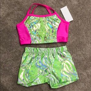 Other - NWT Reflectionz top and short dance gymnastics